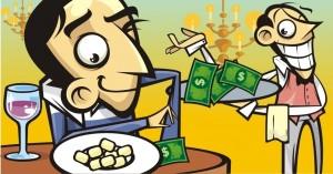 comer fora e os impactos nas finanças pessoais, no bolso, na conta bancária