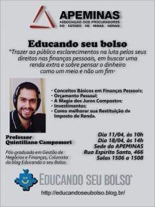 Poster de divulgação da palestra