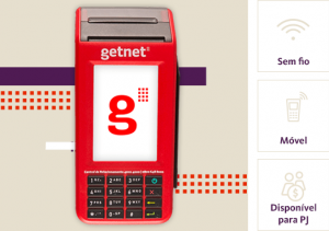 Maquininha Wi-Fi + 3G, máquina de cartão GetNet