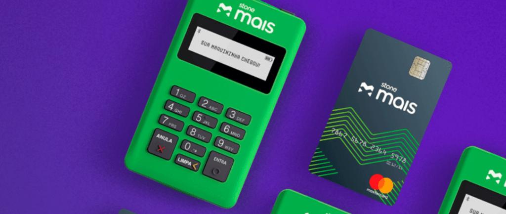 Máquina de cartão para celular stone
