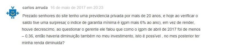 IGPM, IGP-M + 6%, Previdência privada, aposentadoria, investimento