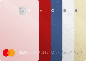 cartões de crédito e débito C6 Bank.
